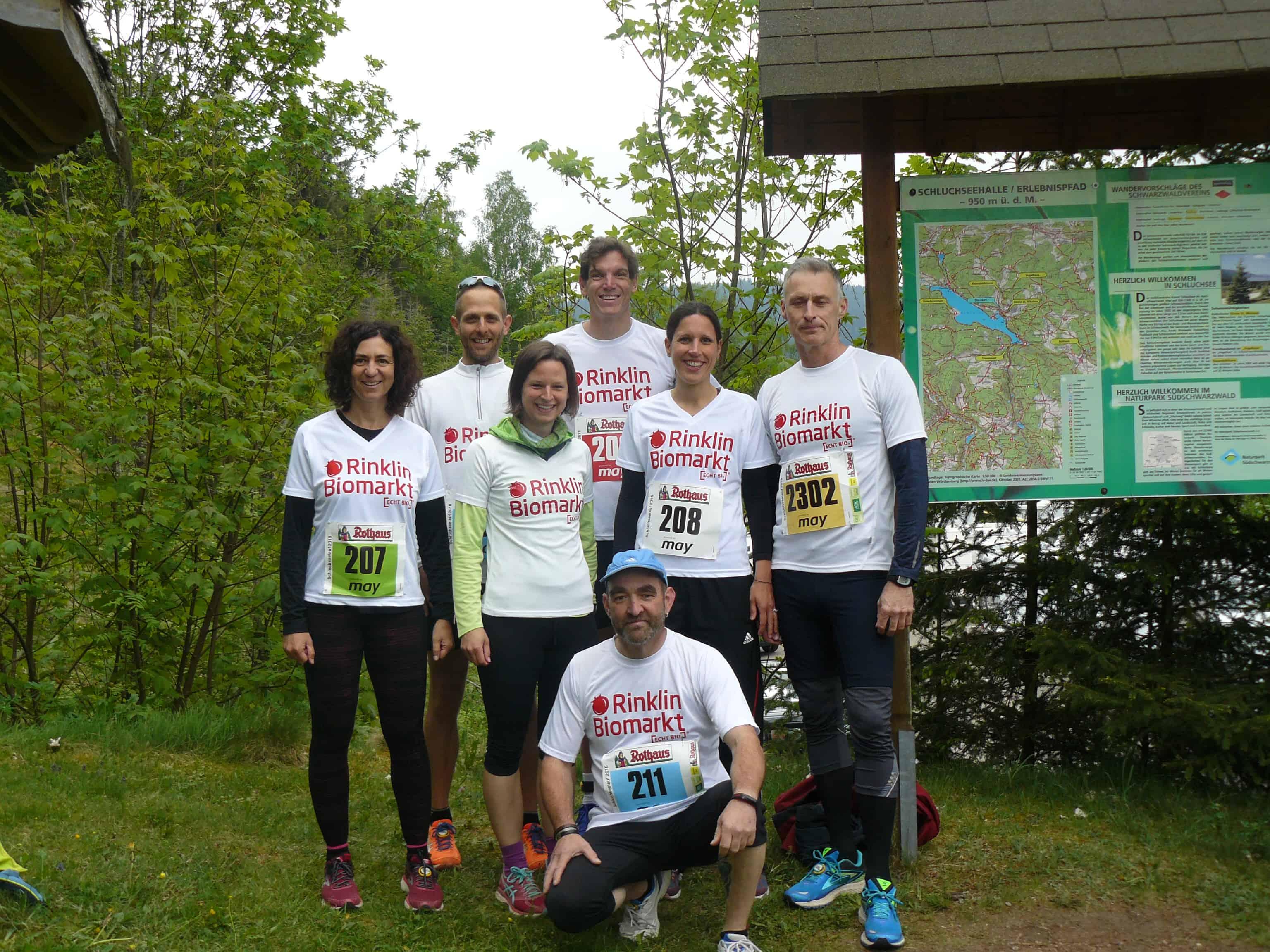 Das ECHT BIO-Team beim Schluchseelauf 2018
