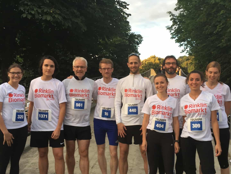Das ECHT BIO-Team bei der Freiburger LaufNacht 2018